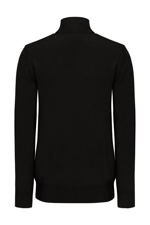 Soft Roll Neck Sweater- Black