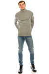 Soft Roll Neck Sweater- Grey
