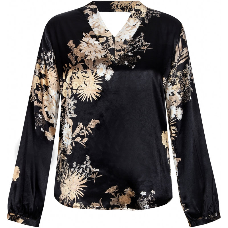 Gete Printed V-Neck Blouse