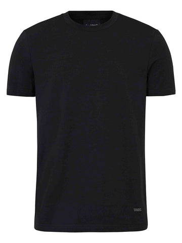 Stretch Cotton Crewneck T-shirt- Black