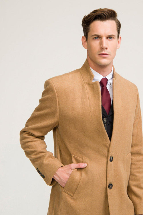 Tailored Overcoat- Camel