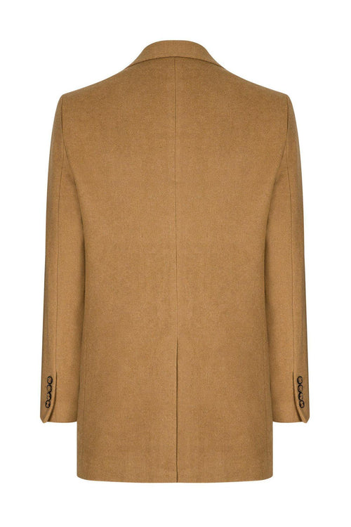 Notch Lapel Overcoat- Camel
