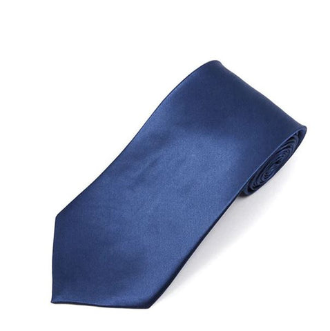 Silk Satin Tie- French Blue