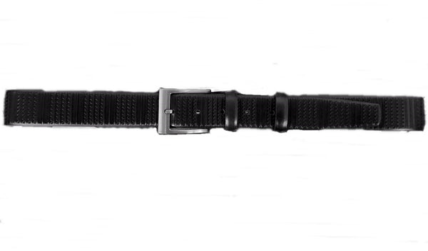 Textured Leather Belt - Black