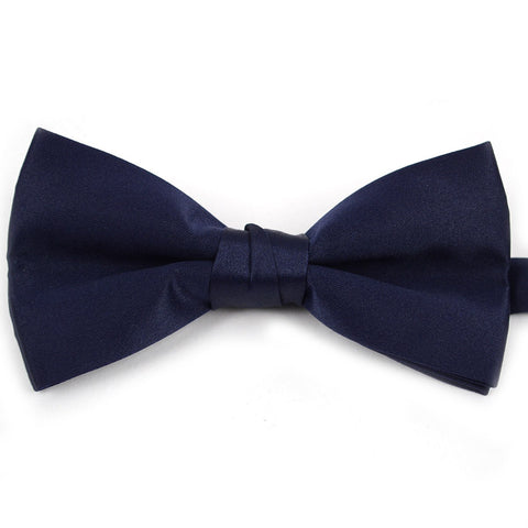 Satin Banded Bow Tie - Navy