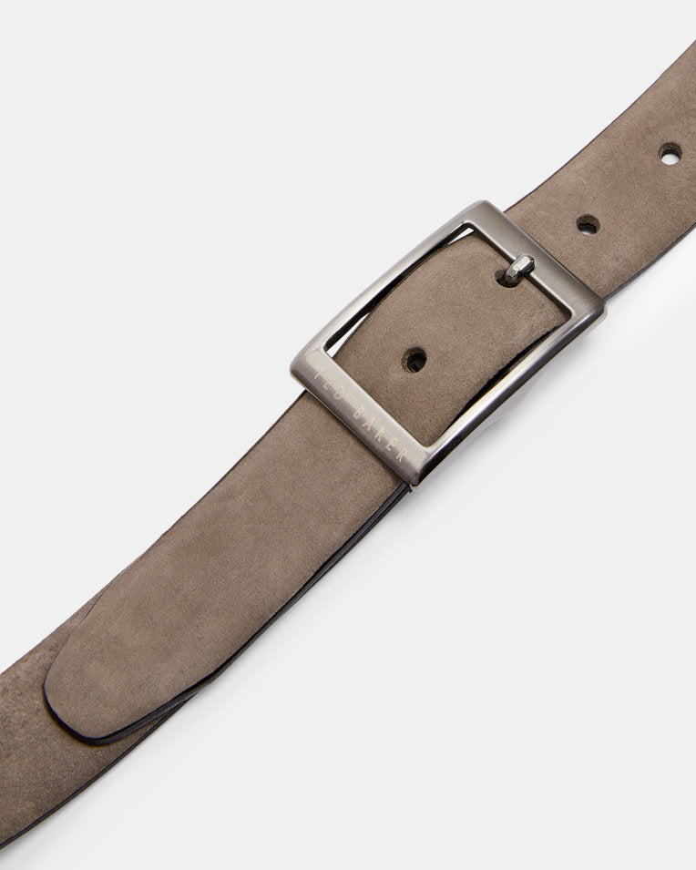 Nubuck Center Bar Belt- Grey