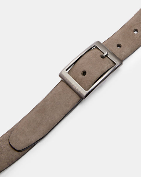 Ted Baker | Nubuck Center Bar Belt- Grey
