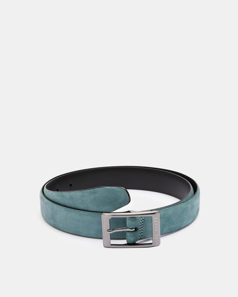 Ted Baker Nubuck Centre Bar Belt - Turquoise