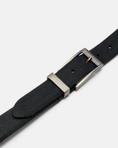 Ted Baker Carbon Fibre Suede Belt - Navy