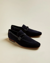 Suede Loafers with Tassel- Navy