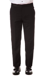 Slim Fit Tuxedo Pants- Black