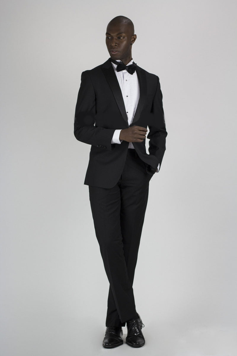 Single Button Shawl Lapel Tuxedo- Black