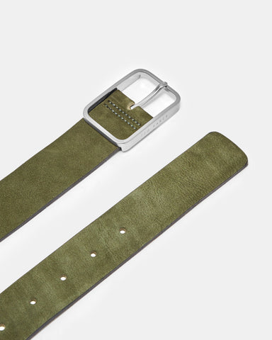 Ted Baker | Nubuck Leather Belt - Olive