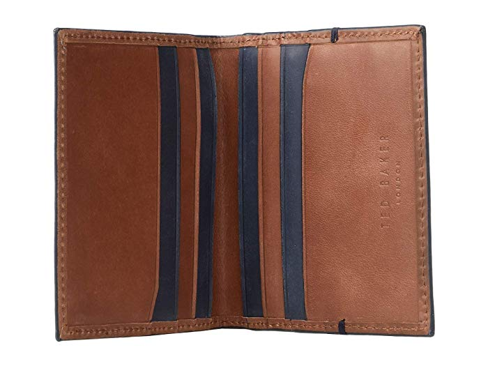 Waxed Suede Card Holder- Dark Red