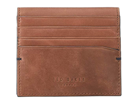 Ted Baker | Waxed Suede Card Holder- Dark Red