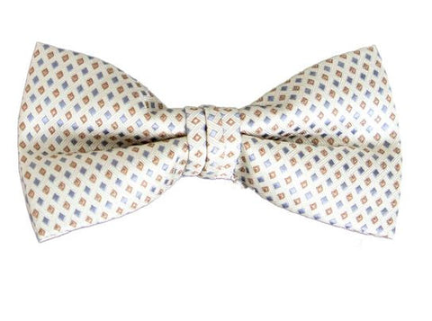 Men's Poly Woven Banded Bow Tie