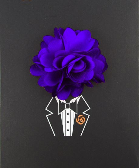 Floral Lapel Pin- Purple