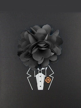 Charcoal Lapel Pin