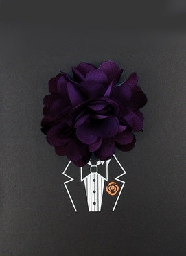 Plum Lapel Pin