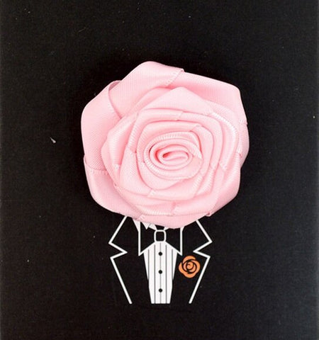 Solid Floral Lapel Pin- Pink