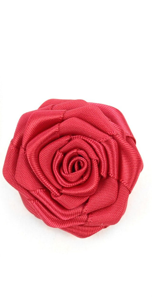 Solid Floral Lapel Pin- Rose