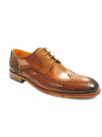 Leather Wingtip Brogues- Brown