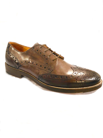 Leather Wingtip Brogues -  Brown