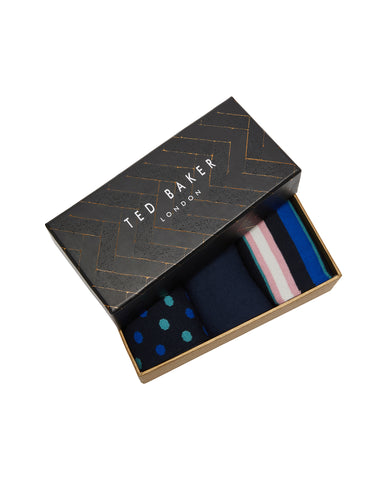 Ted Baker | Three Pack Sock Set- Assorted