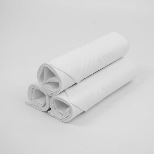 Boxed Solid Cotton Handkerchiefs Set Of 3- White
