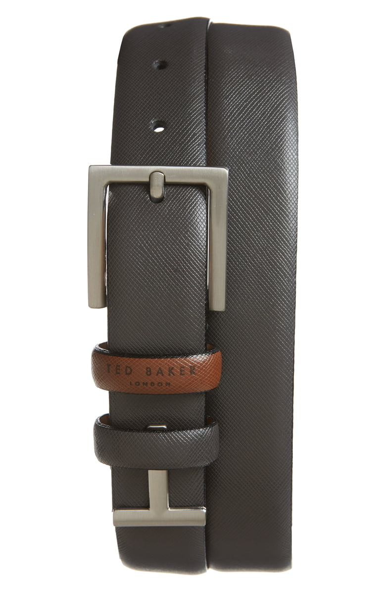 Leather Loop Belt- Charcoal