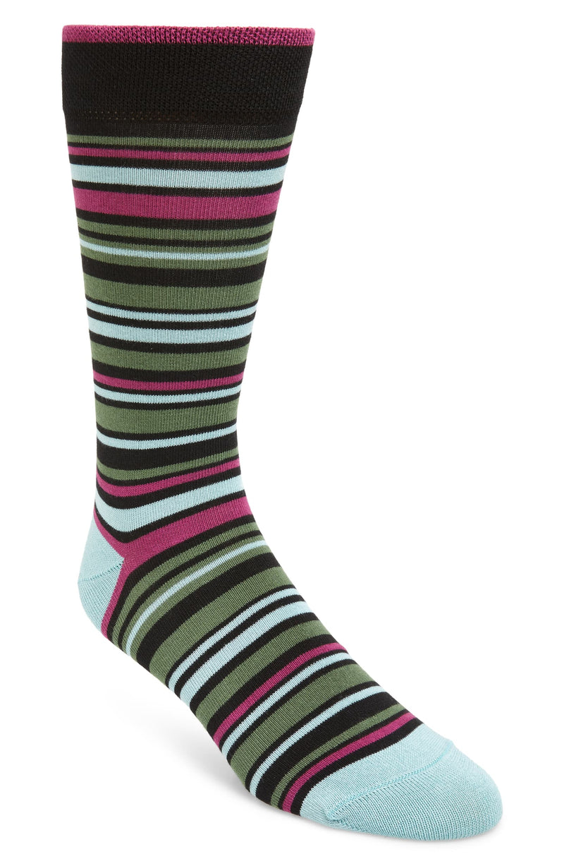 Striped Socks- Black