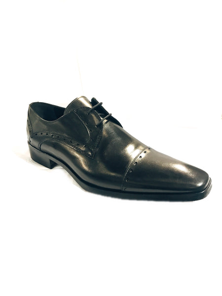 Leather Lace-Up Oxfords- Black