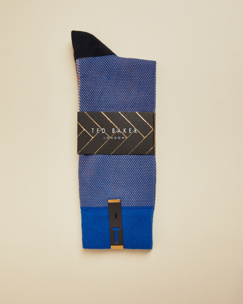 Textured Socks- Bright Blue