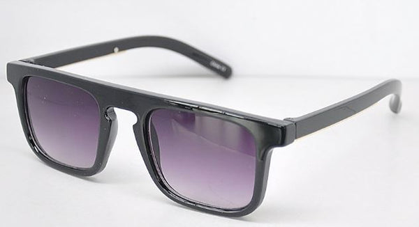 Square Frame Sunglasses- Black