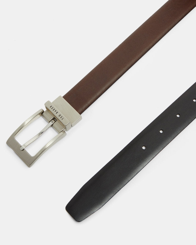 Reversible Leather Belt- Chocolate
