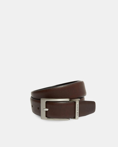 Ted Baker | Reversible Leather Belt- Chocolate
