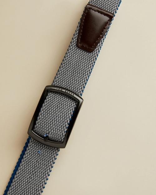 Reversible Woven Belt- Blue