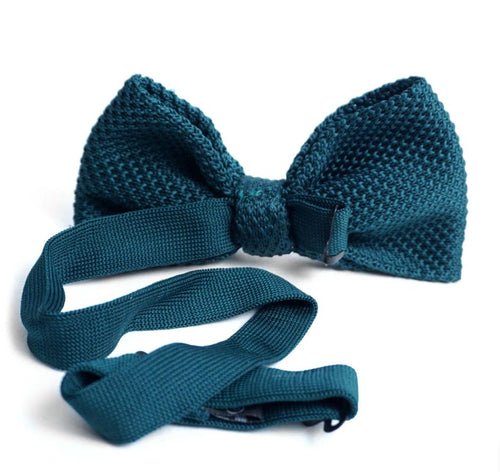 Solid Knit Bow Tie- Hunter Green