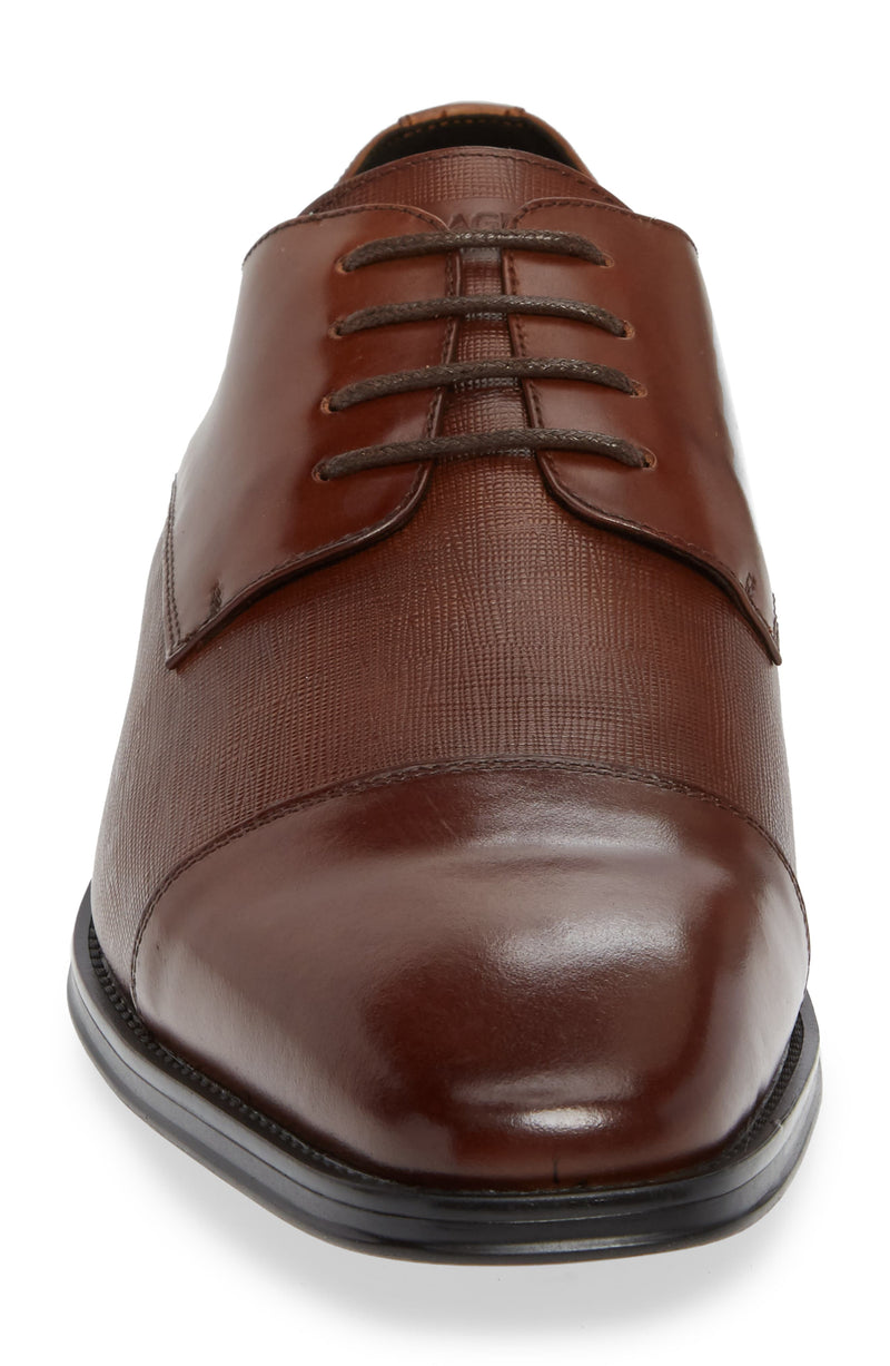 Leather Captoe Oxford- Cognac