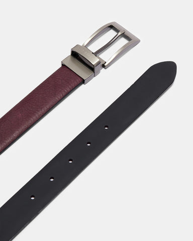Ted Baker | Reversible Leather Belt - Deep Purple