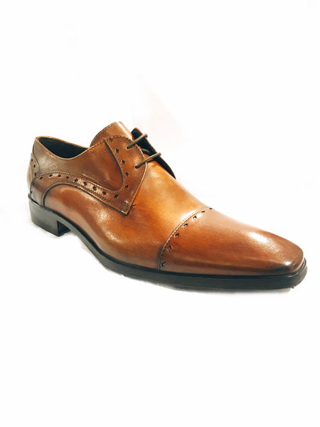 Leather Lace-Up Oxfords- Brown