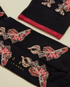 Fish Printed Socks- Navy