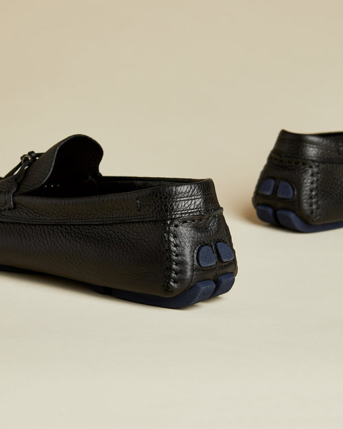 Leather Driving Moccasins - Black