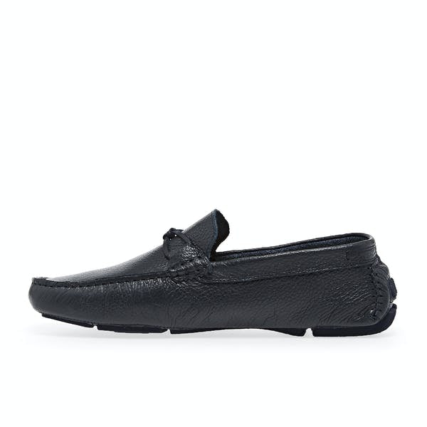 Leather Driving Moccasins- Navy