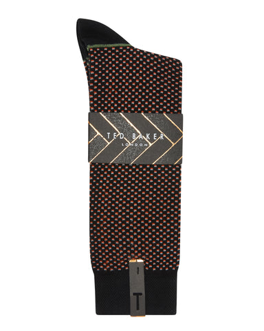 Ted Baker | Spot Design Socks- Black