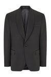 Textured Stretch Wide Shawl Lapel Tuxedo- Black