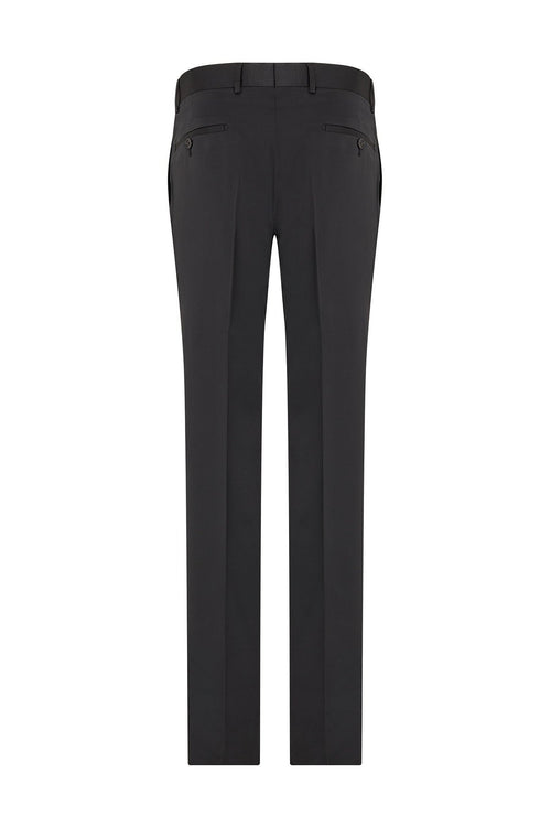 Solid Tuxedo Dress Pants- Black