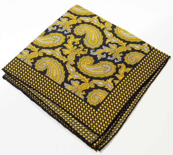 Silk Pocket Square - Yellow
