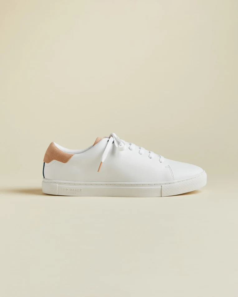 Minimal Leather Trainers - White