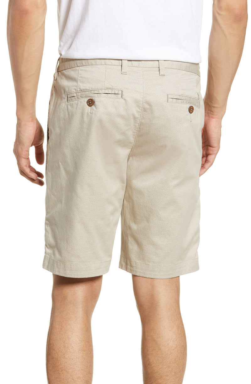 Printed Chino Shorts- Natural
